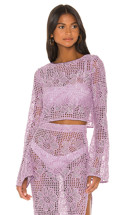 MAJORELLE Max Top in Lavender. - size XXS (also in XS,S,M,L,XL)