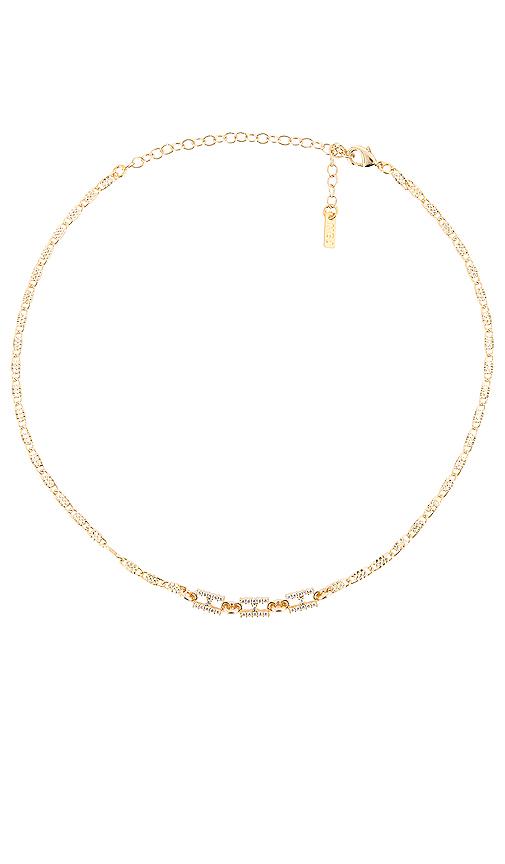 Natalie B Jewelry Hermez Choker in Metallic Gold.