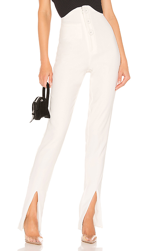 NBD Audri Pants in White. - size L (also in XXS,XS,S,M,XL)