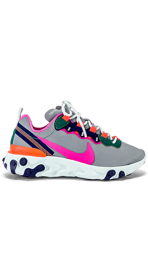 Nike Women's React Element 55 Sneaker in Gray. - size 10 (also in 7,9.5)