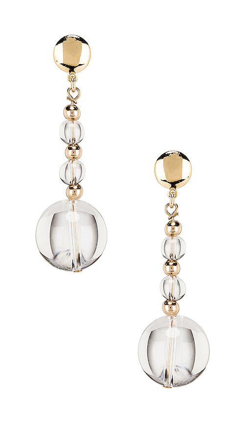 Paradigm Vial Earrings in Metallic Gold.