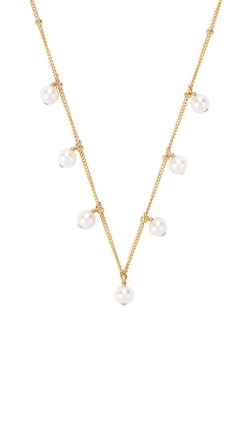 Paradigm Pearl Shaker Necklace in Metallic Gold.