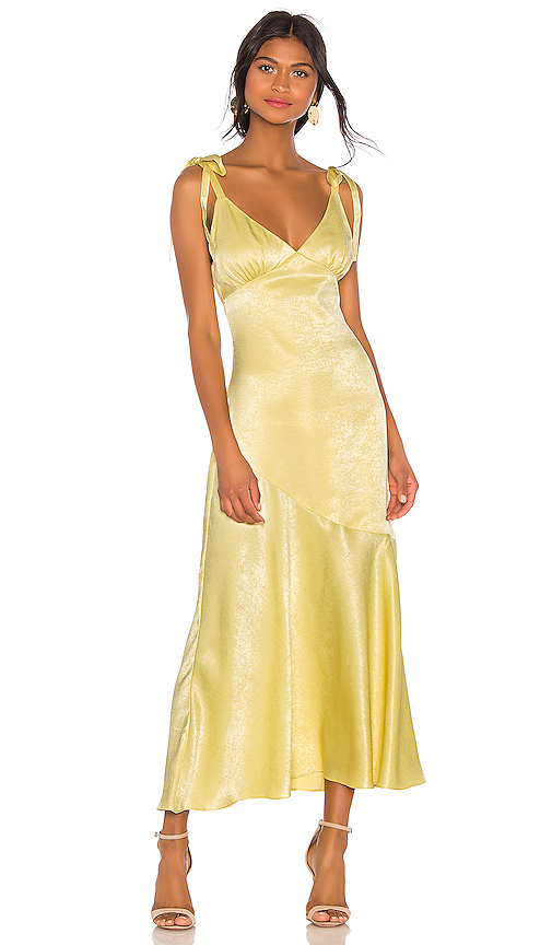 Privacy Please Nina Maxi Dress in Yellow. - size XL (also in M,L)