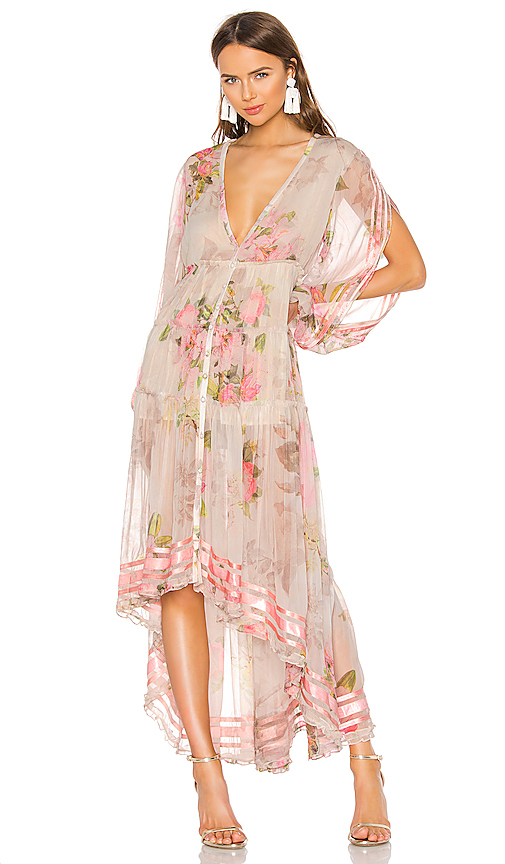 ROCOCO SAND Melody Maxi Dress in Beige. - size S (also in XS,L)