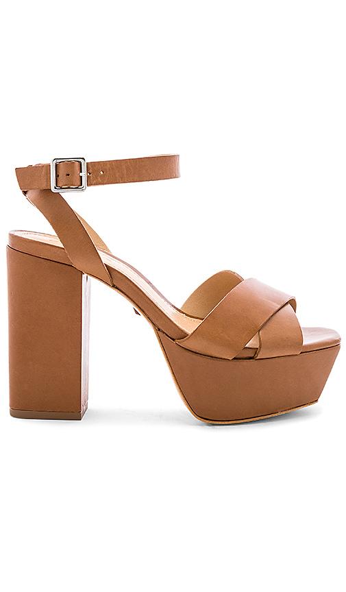 Schutz Saphire Platform Sandal in Tan. - size 10 (also in 7.5,9)