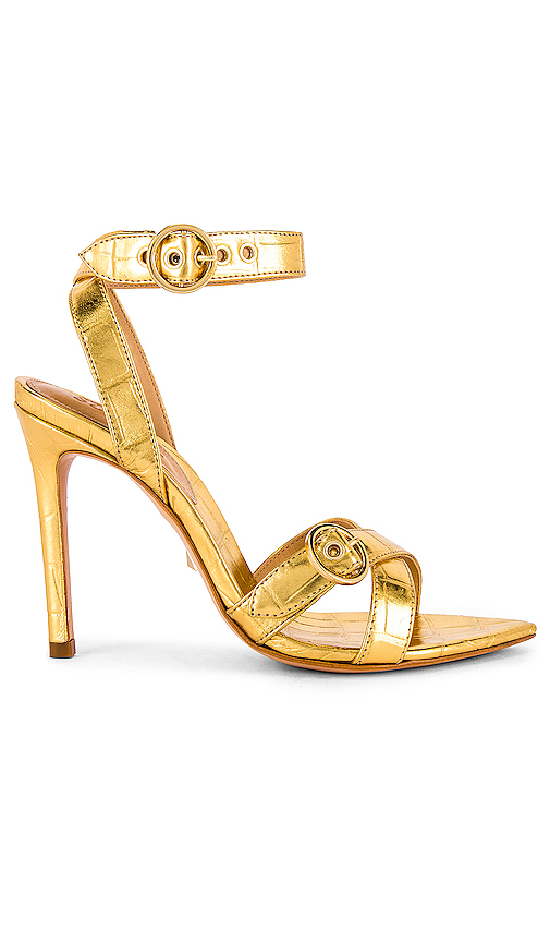Schutz Nyur Heel in Metallic Gold. - size 6 (also in 6.5,7.5,8.5,8,9,5.5,7,9.5,10)