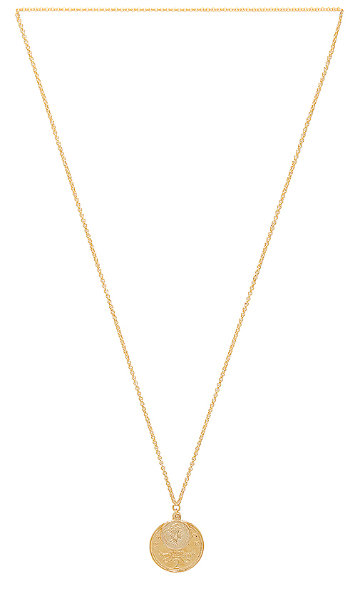 SHASHI Double Coin Necklace in Gold.