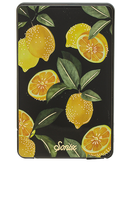 Sonix Lemon Zest Portable iPhone Charger in Yellow.