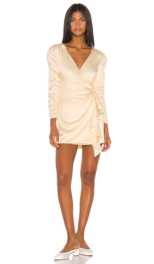 Song of Style Dala Mini Dress in Cream. - size L (also in S,XS,M,XL)