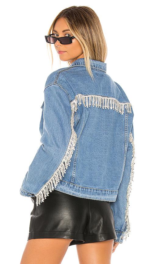 superdown Raya Rhinestone Fringe Jacket. - size M (also in S,L)