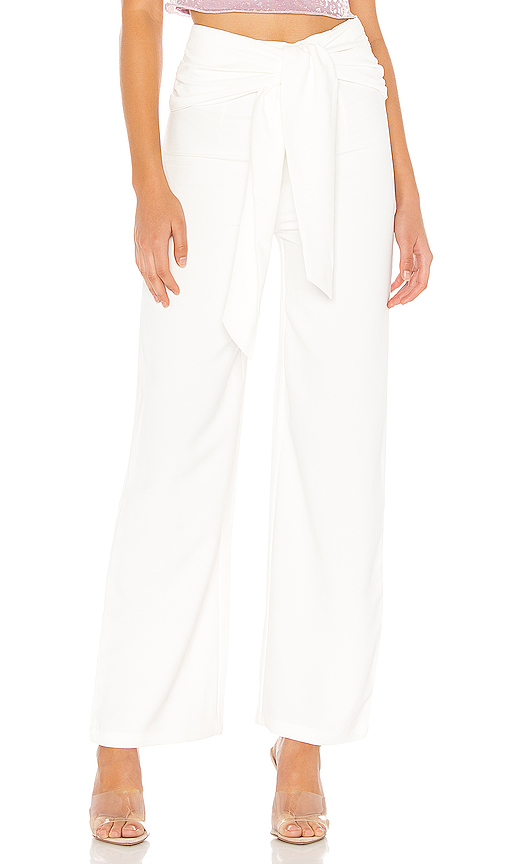 superdown Jordayn Tie Waist Pants in White. - size XXS (also in XS,S,M,L,XL)