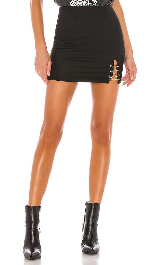 superdown Lorie Mini Skirt in Black. - size XXS (also in XS,S,M,L,XL)