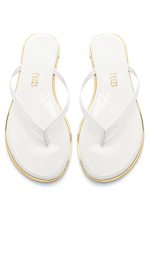 TKEES Studio Sandal in White. - size 5 (also in 6,7,8,9,10)