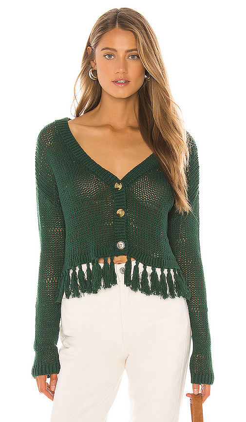 Tularosa Cenote Cardigan in Dark Green. - size XS (also in XXS,S,M,L,XL)