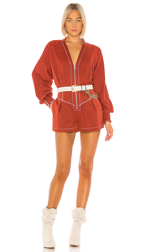 Tularosa The Jhene Romper in Red. - size M (also in XXS,XS,S,L,XL)