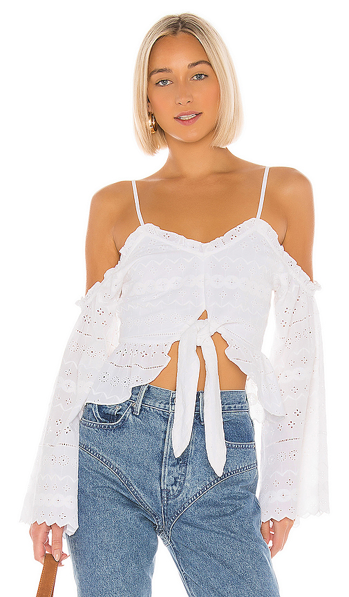 Tularosa Joyce Top in White. - size M (also in XXS,XS,S,L,XL)