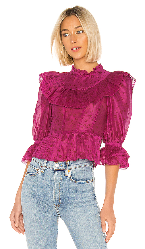 Ulla Johnson Edna Blouse in Pink. - size 2 (also in 0,4,6,8)