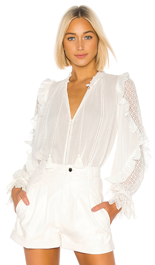 Ulla Johnson Shirley Blouse in White. - size 0 (also in 2)