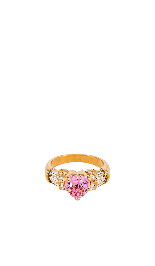 Vanessa Mooney The Lavish Ring in Metallic Gold. - size 8 (also in 6,7)