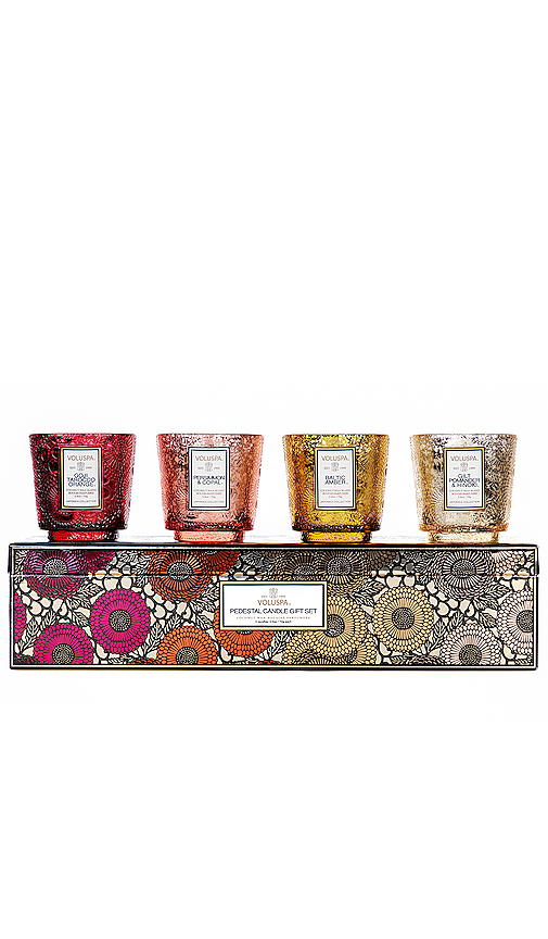 Voluspa Pedestal Warm Tones Gift Set.