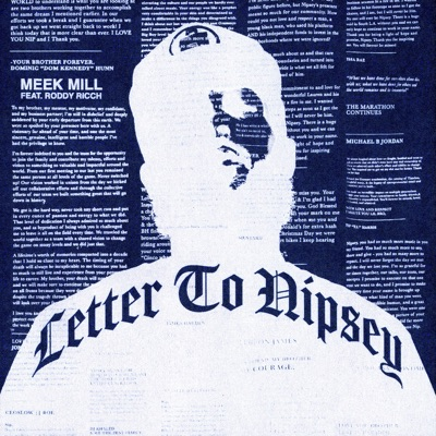 Letter To Nipsey (feat. Roddy Ricch) Letter To Nipsey (feat. Roddy Ricch) - Single - Meek Mill mp3 download