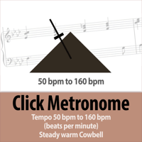 52 bpm (beats per minute) Click Metronome - Steady Tempo Warm Cowbell Todster