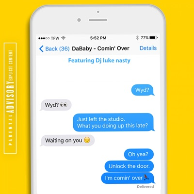 Comin' Over (feat. DJ Luke Nasty) - Single - DaBaby mp3 download