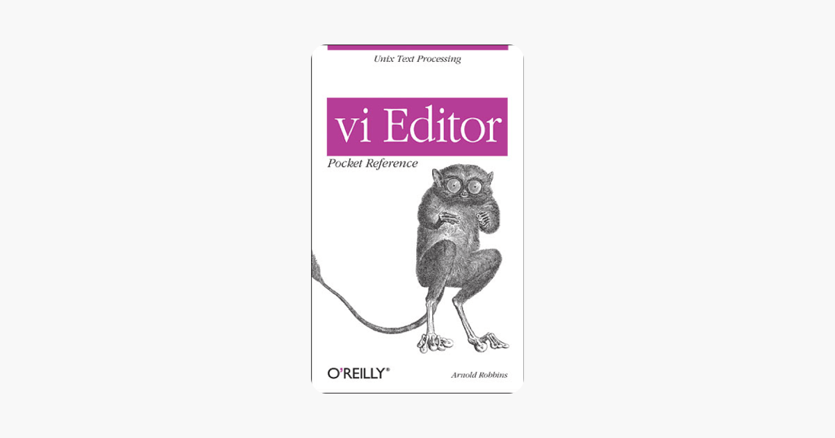 vi Editor Pocket Reference on Apple Books