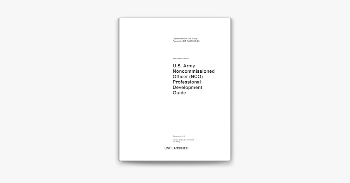 ‎Department of the Army Pamphlet DA PAM 600-25 U.S. Army