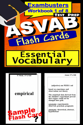 ASVAB Test Prep Essential Vocabulary Review--Exambusters Flash Cards--Workbook 1 of 8 - ASVAB Exambusters