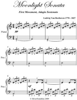 1st Mvt Easy Piano Sheet Music In Apple