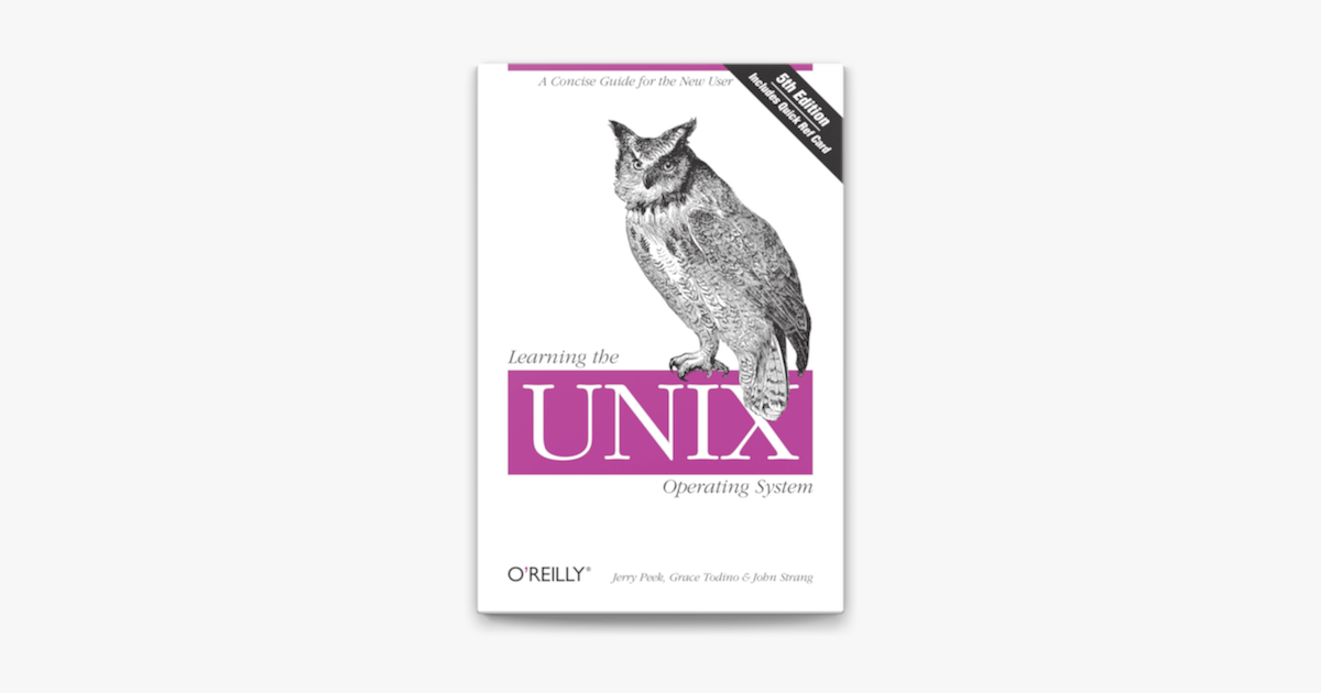 Learning the Unix Operating System on Apple Books