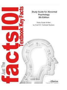 Study Guide for Abnormal Psychology - Susan Nolen-Hoeksema pdf download