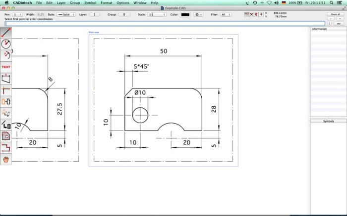 CADintosh X Screenshot 03 ledyphy