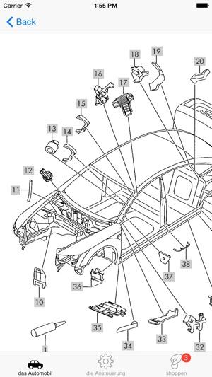 Audi Ersatzteile und Diagramme im App Store