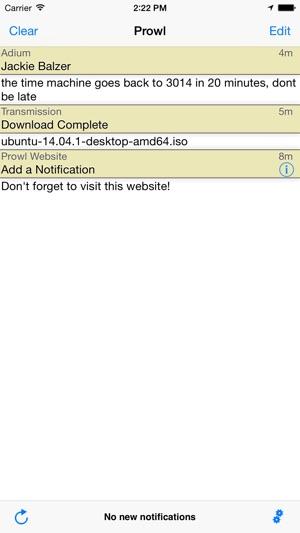 Prowl: Easy Push Notifications Screenshot