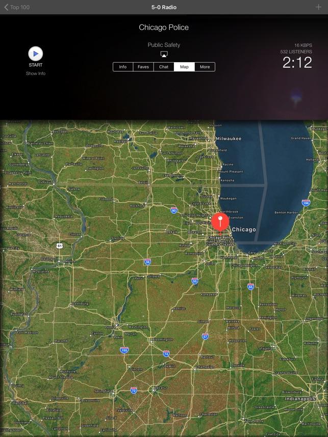 5-0 Radio Police Scanner Screenshot