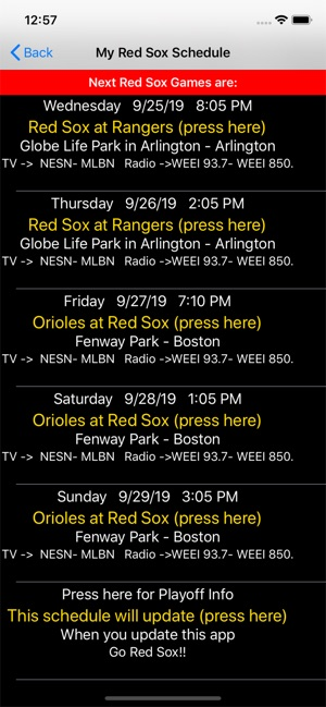 red sox schedule # 67
