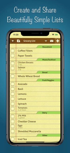 ‎Shopping List Ease - Grocery Screenshot