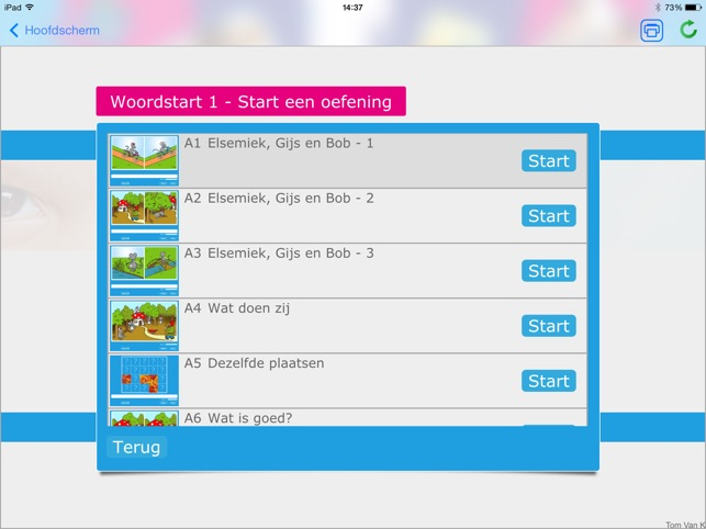 Woordstart 1 Screenshot