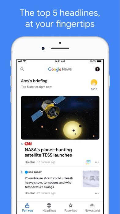 Google News iPhone