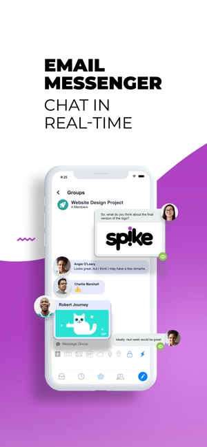 Spike: Messenger & Email App Screenshot