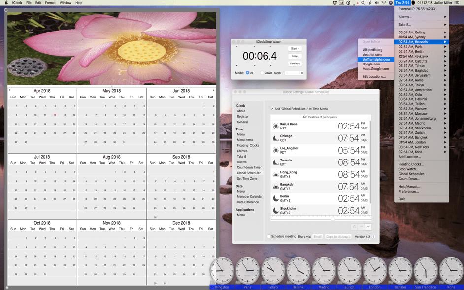 iClock Mac 破解版 多功能的高效菜单栏时钟