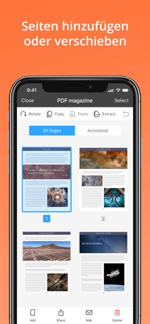 PDF Expert 7: Datei Bearbeiten Screenshot
