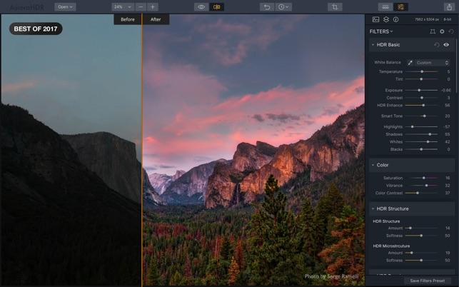 Aurora HDR 2018 Screenshot