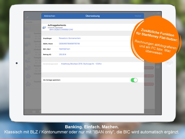 StarMoney - Banking per iPad Screenshot