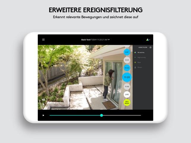 Logi Circle-Sicherheitskamera Screenshot