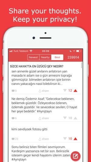 Kampus: Anonymously Talk Screenshot