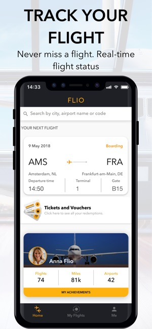 FLIO - Your flight companion Screenshot