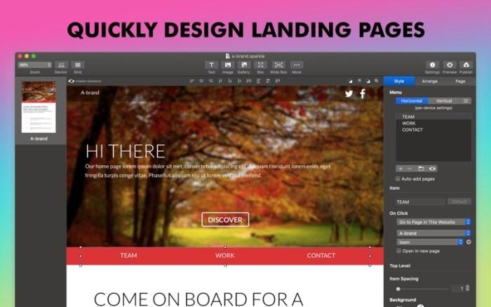 Sparkle, Visual Web Design Screenshot 04 ikzefpn